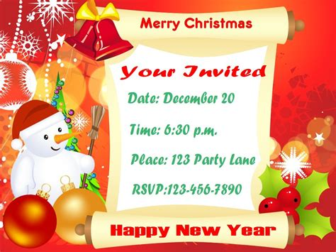 sample invitation card for christmas party fun for christmas