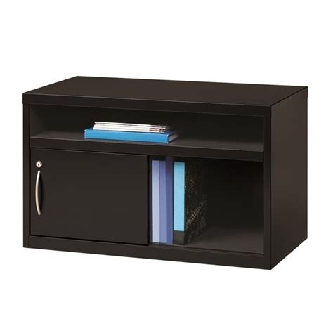 low credenza low credenza file cabinet with door in black 20506
