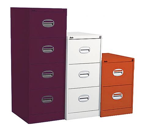 Orange Filing Cabinet Silverline Kontrax 3 Drawer Filing Cabinet Orange