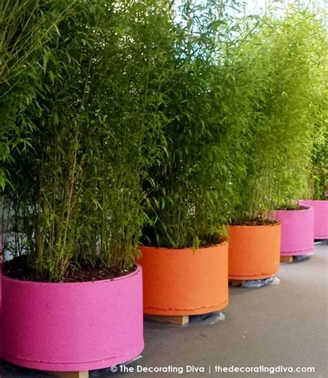 Bright Planters pink bright orange garden planters decorating