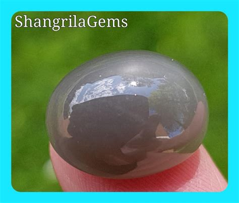 Sapphire Cat Eye Effect 16 5mm grey moonstone cabochon with cats eye effect