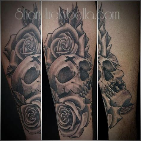 tattoo shops little rock ar skull and roses by shari qualls tattoos