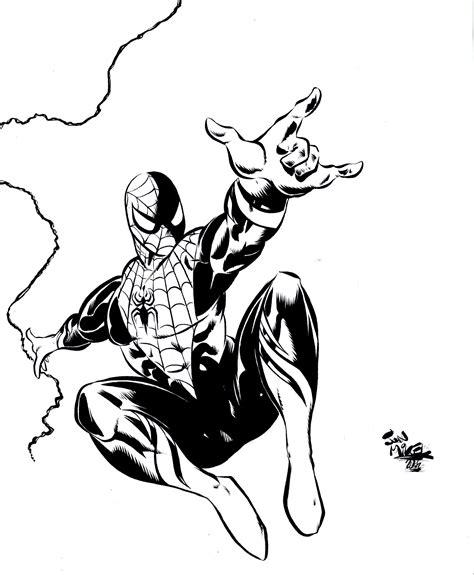 imagenes a blanco y negro de spiderman imagenes spiderman en dibujo blanco y negro imagui