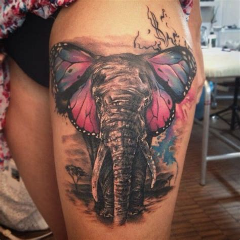 elephant tattoo with color 73 best tattooooossss images on pinterest tatoos tattoo