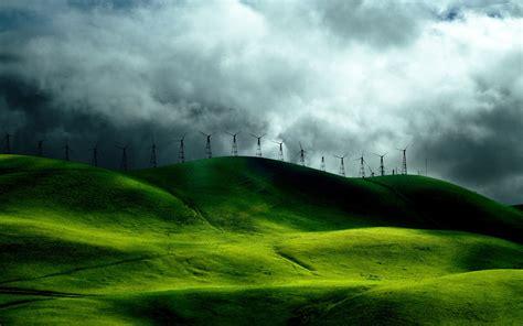 wind turbine fields wallpapers hd wallpapers id