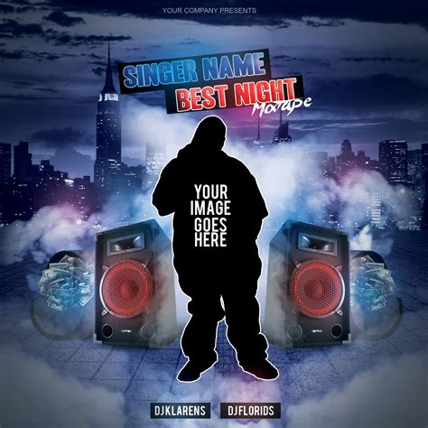 free mixtape covers templates mixtape album cd cover free psd template by klarensm on