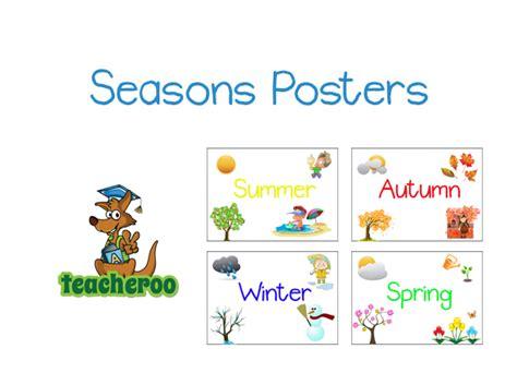 printable seasons poster top season and weather free printables wallpapers