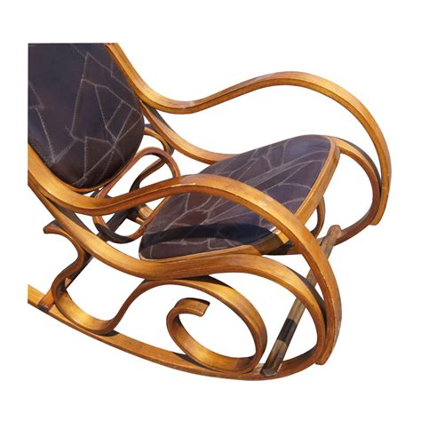 Retro Rocking Chair by Vintage Leather And Bentwood Rocking Chair Ebay