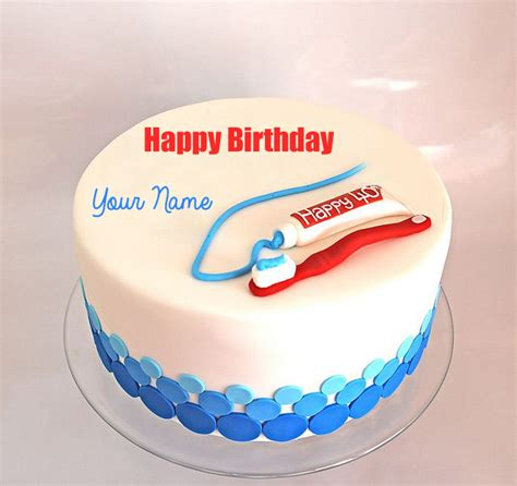 Happy Birthday Wishes For Dentist Write Name On Happy Birthday Dentist Doctor Cake