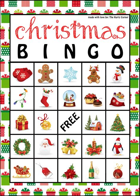 Printable Christmas Bingo Game Cards | the kurtz corner free printable christmas bingo cards