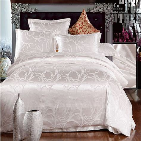 queen size comforter cover white jacquard silk duvet quilt comforter cover queen king
