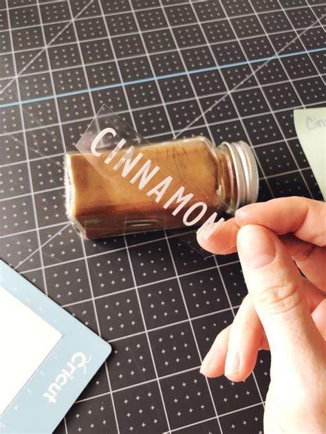 diy spice jar labels  cricut maker spice jar labels