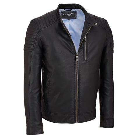 leather cycle jacket black rivet mens faux leather cycle jacket w quilted
