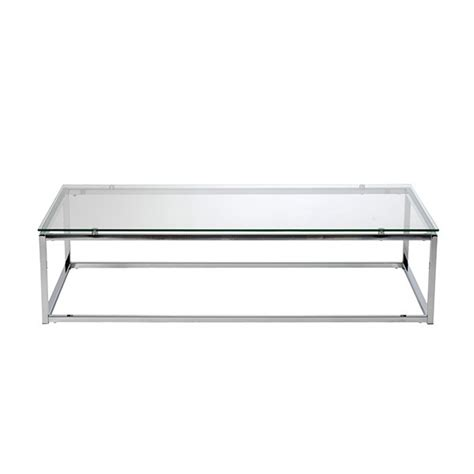 chrome glass coffee table brickell collection modern