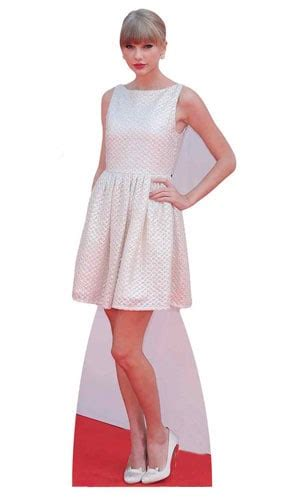 life size taylor swift cut out for sale taylor swift in white dress lifesize cardboard cutout