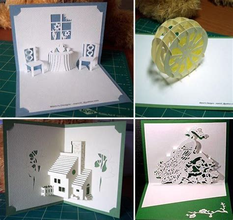 Free Hallmark Card Templates by Free Diy Kirigami Greetings Cards Patterns Card Patterns