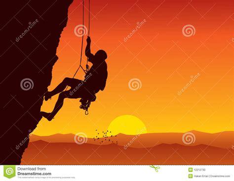 vector climber stock vector image  collection cliff