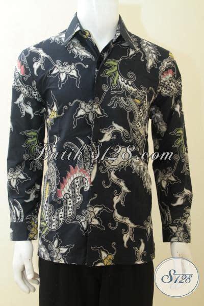 Kemeja Batik Pria Batik Tulis Lengan Pendek Warna Soft Baru Code B L kemeja batik kombinasi tulis warna hitam baju batik