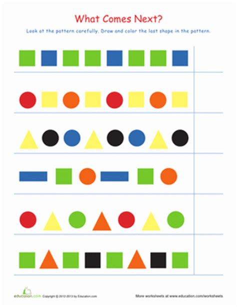 pattern math games for first grade recognizing patterns 2 worksheet education com