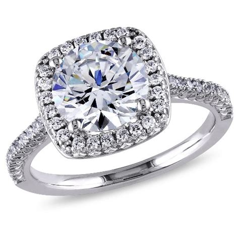 5ct t w cubic zirconia engagement ring in sterling