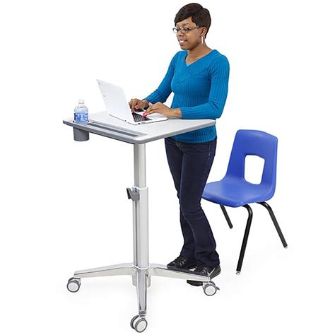 Ergotron Learnfit Sit Stand Desk Short Computer Carts Stand Or Sit Desk