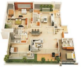 4 Bedroom House Floor Plans by 4 Bedroom Apartment House Plans
