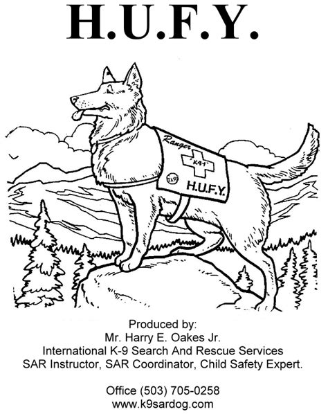 police dog coloring pictures for kindergarten coloring pages