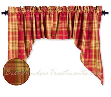 plaid swag curtains cedar park plaid swag curtains