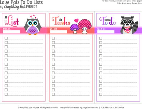 printable to do list maker cute love themed to do lists printables pinterest