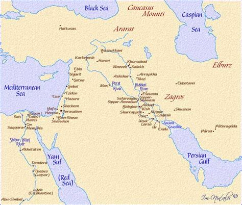 middle east map ancient map of cities of the ancient middle east