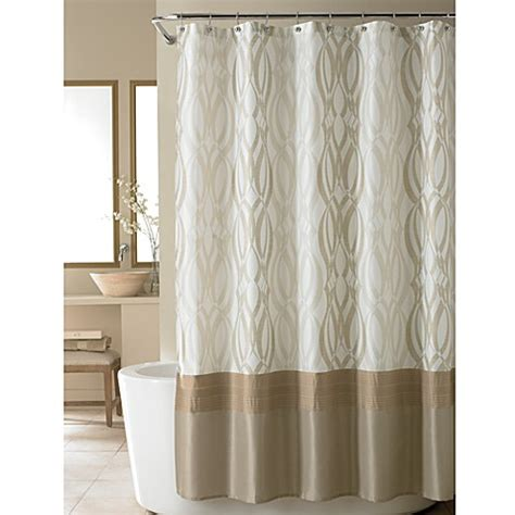 nicole miller shower curtains nicole miller 174 golden rule fabric shower curtain bed