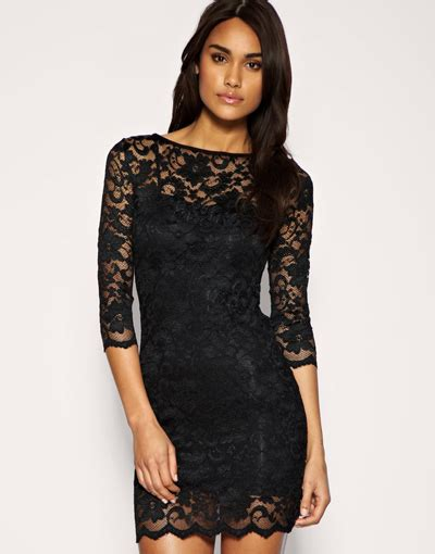 10 Black Tie Appropriate Cocktail Dresses by 6 Asos Slash Neck Lace Conscious Dress 10 Black Tie