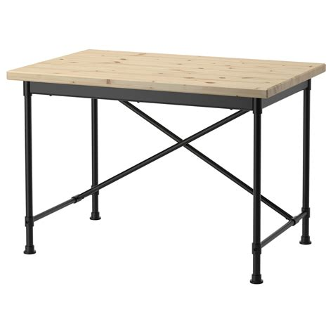kullaberg desk pine black 110x70 cm ikea