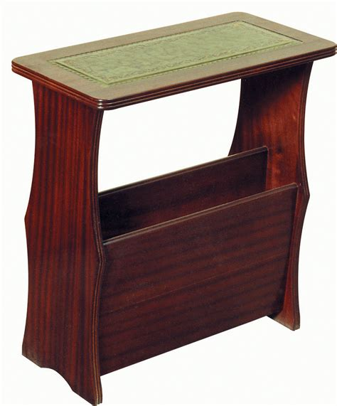magazine table with l magazine rack leather top coffee tables