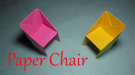 Easy Origami Chair - origami chair how to make an easy origami chair tutorial