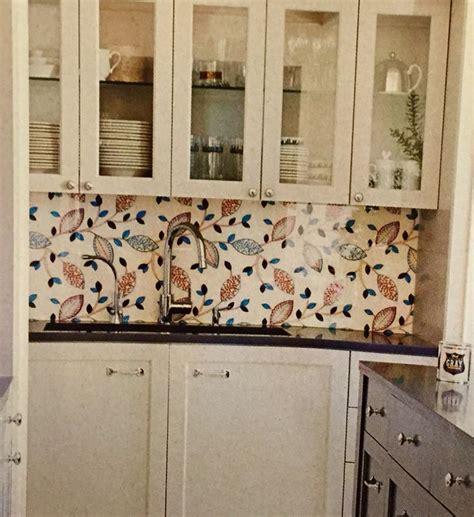 wallpaper backsplash kitchens pinterest wallpaper with plexiglass as backsplash kitchen
