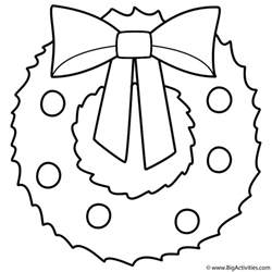 Wreath Coloring Page wreath colouring pages search results calendar 2015