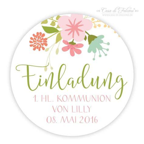 Aufkleber Einladung Taufe by Aufkleber Einladung Zur Kommunion Rund Floral Casa Di