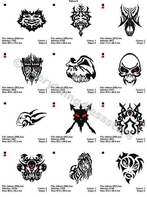 4x4 tattoo designs 48 tattoos 4x4 volume 9 mega embroidery designs on cd ebay