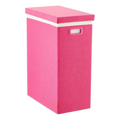 Pink Poppin Laundry Her With Lid The Container Store Laundry With Lid