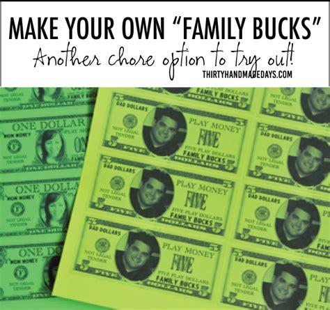 school bucks template make your own family bucks