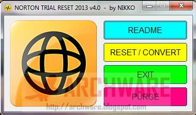 norton trial resetter 2013 archware software download norton trial reset 2013 v4 0