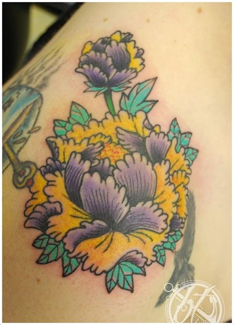 23 tatuajes de la flor peon 237 a