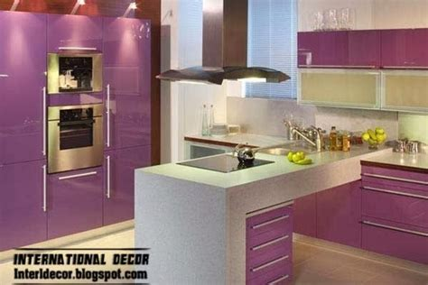 Contemporary Kitchen Designs 2014 Purple Kitchen Interior Design And Contemporary Kitchen