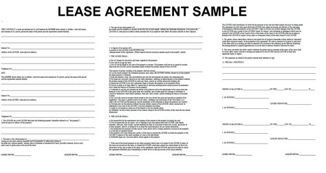 lease agreement word template lease agreement template in word trainer sle