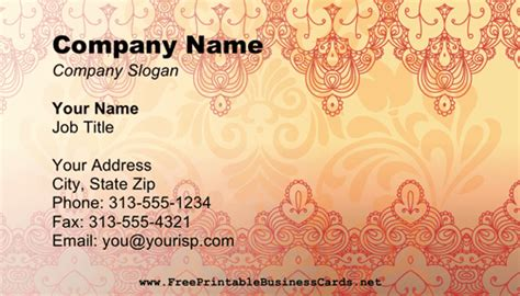 free mehndi business cards template henna business card business card
