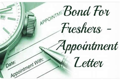 Appointment Letter With Bond Format