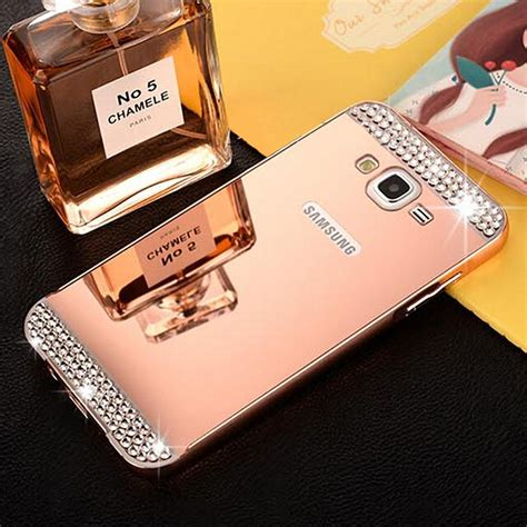 Murah Mirror Samsung J7 Alumunium Bumper Backcase for samsung galaxy s7 s7 edge j5 j7 aluminum metal bumper mirror back cover ebay