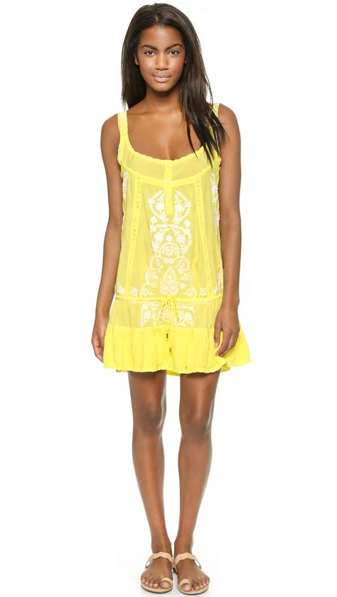 dress cover up odabash jaz cover up dress in yellow lyst
