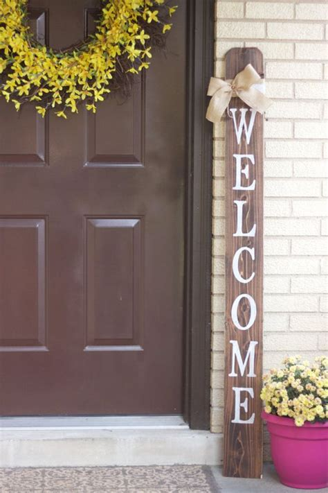 welcome sign for front door welcome front porch wooden sign welcome sign front porch